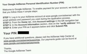 approved Adsense pin